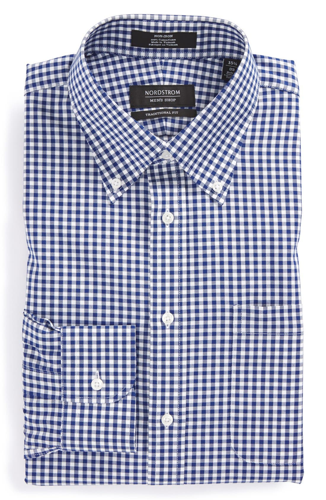 ,                             Traditional Fit Non-Iron Gingham Dress Shirt,                             Alternate thumbnail 11, color,                             401