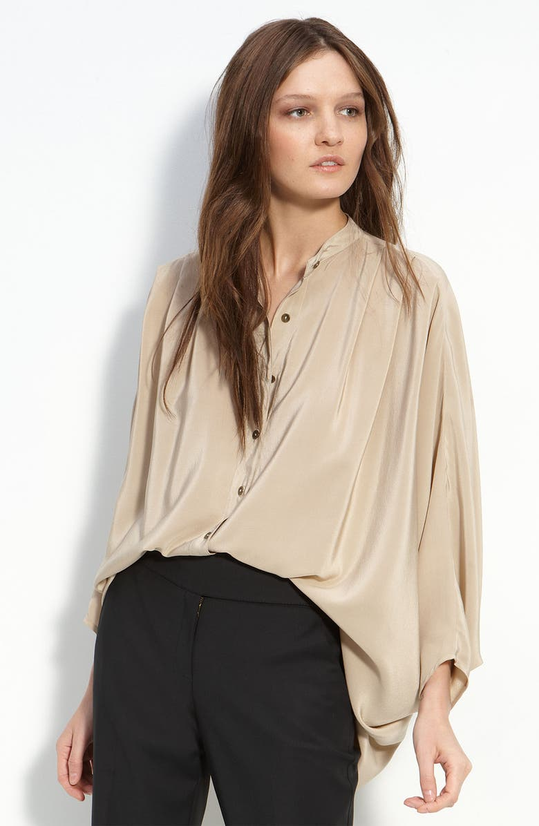TWELFTH STREET BY CYNTHIA VINCENT Oversized Silk Blouse, Main, color, 251