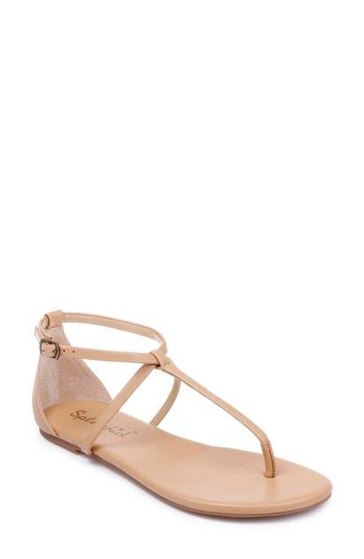34da2b6ba35 Sundae T-Strap Sandal in Nude Leather