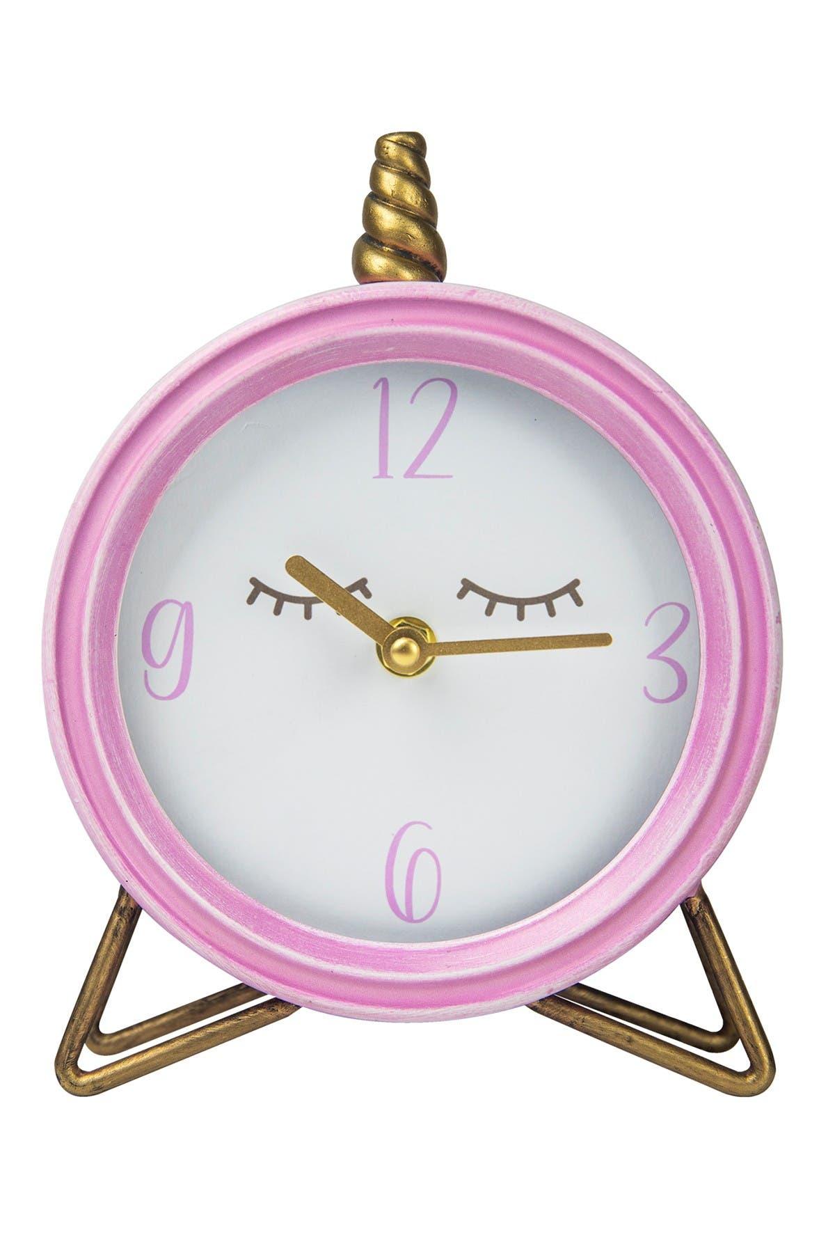 Image of Stratton Home Unicorn Tabletop Clock