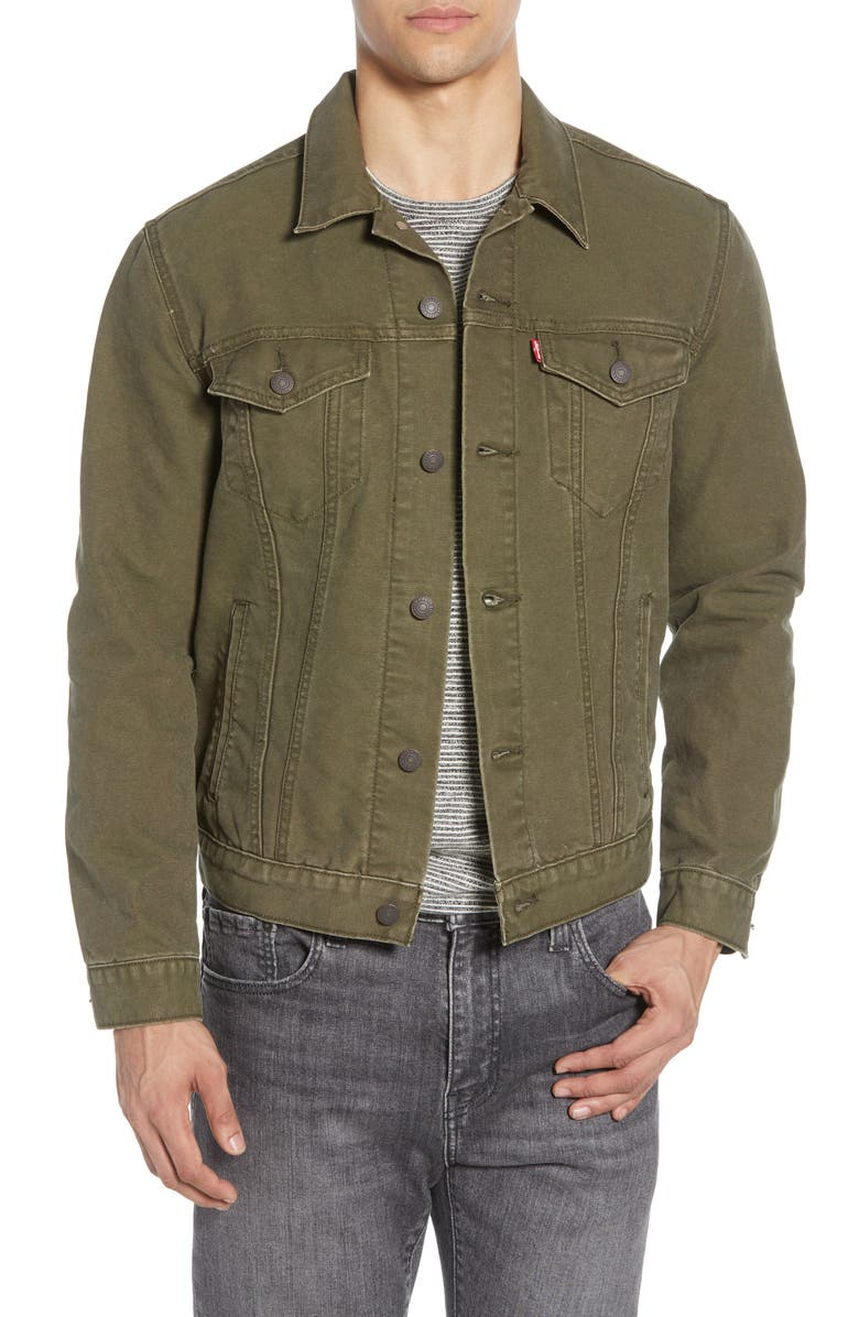 LEVI'S<SUP>®</SUP> The Trucker Jacket, Main, color, OLIVE NIGHT CANVAS