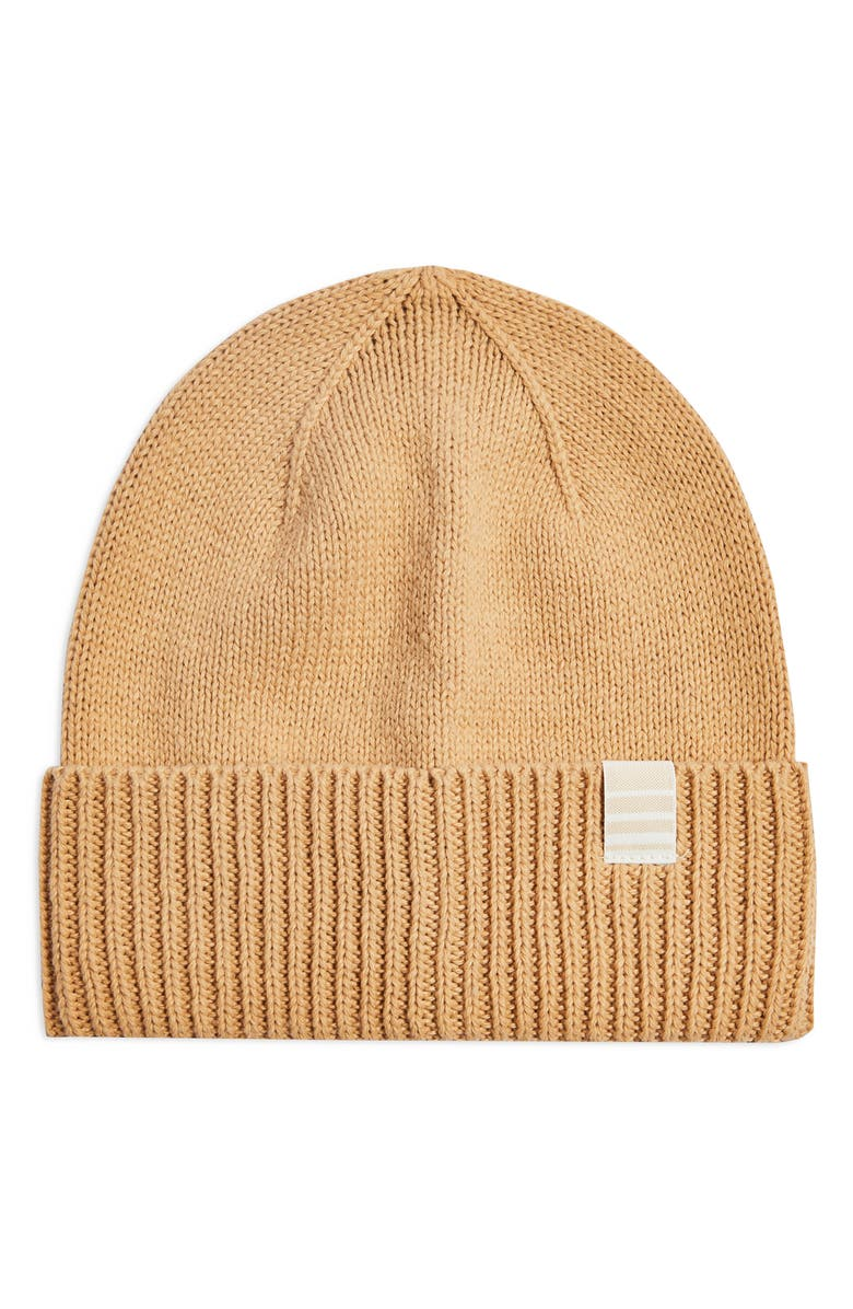 TOPSHOP Recycled Beanie, Main, color, CAMEL