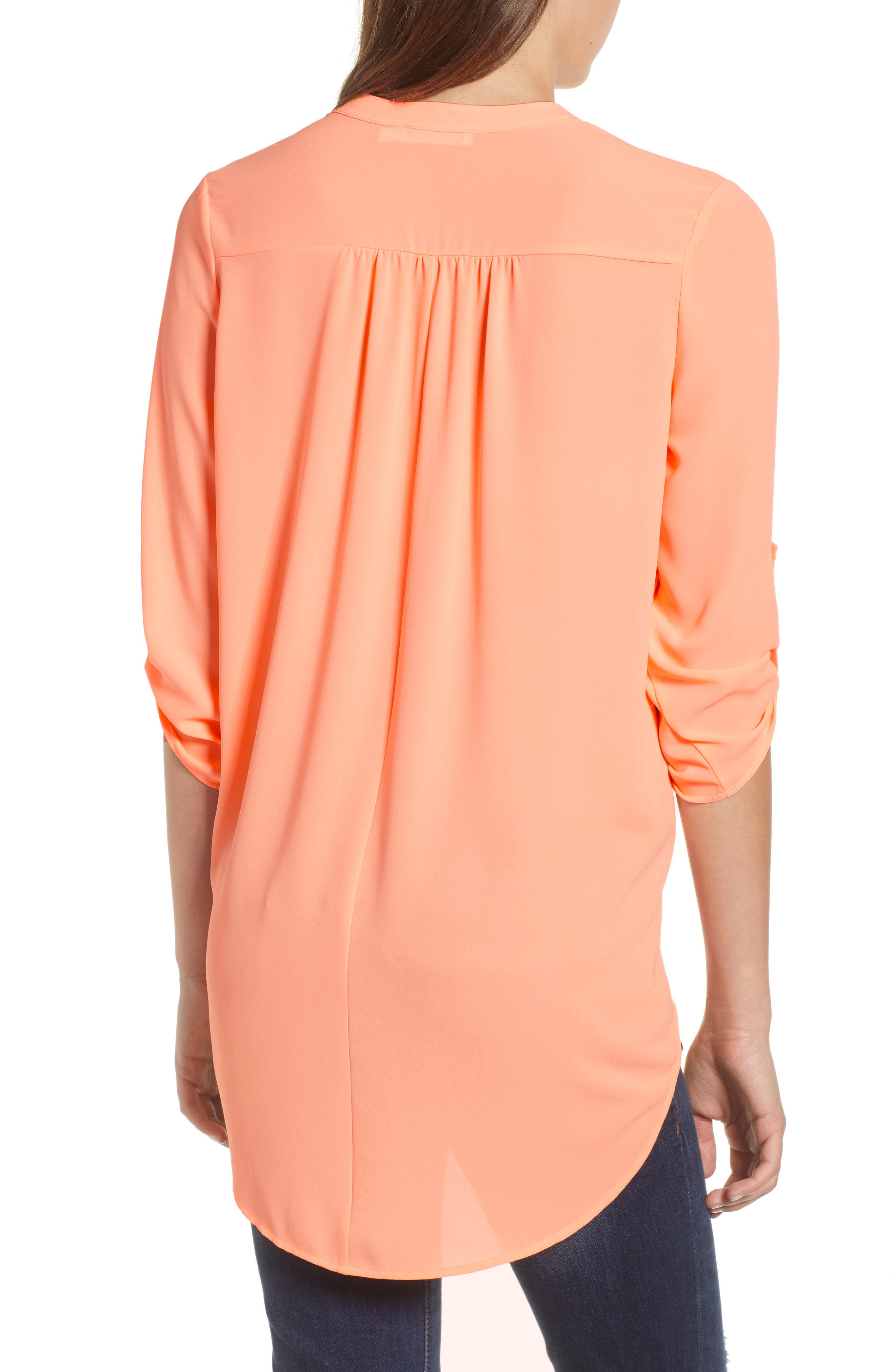 ,                             Perfect Roll Tab Sleeve Tunic,                             Alternate thumbnail 166, color,                             803