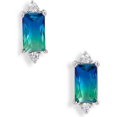 Nordstrom Bi-Color Baguette Stud Earrings