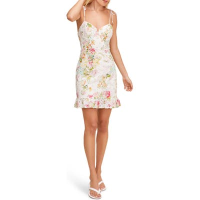 Astr The Label Mireille Floral Lace Sundress, Ivory