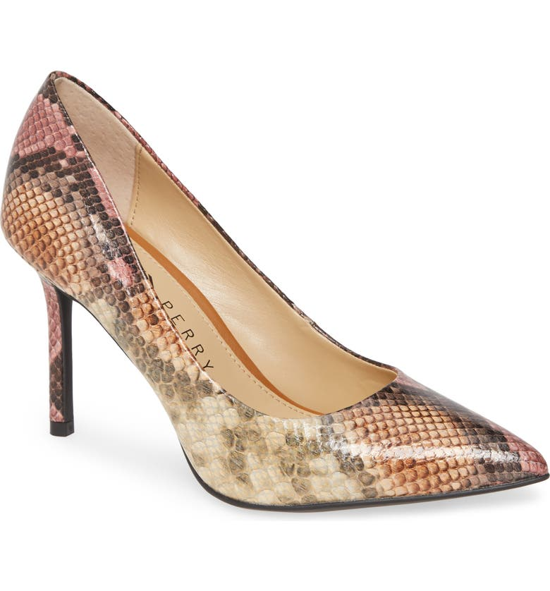KATY PERRY The Sissy Pump, Main, color, CORAL MULTI FAUX LEATHER