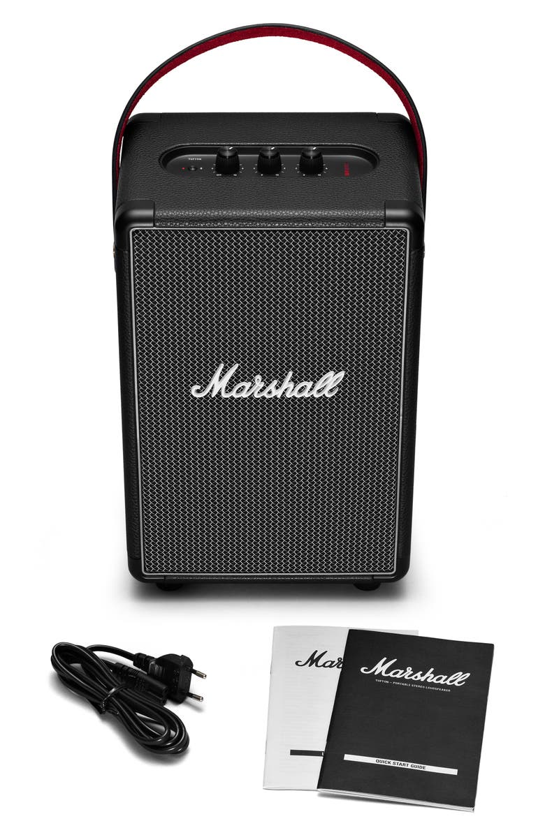 MARSHALL Tufton Portable Bluetooth<sup>®</sup> Speaker, Main, color, BLACK