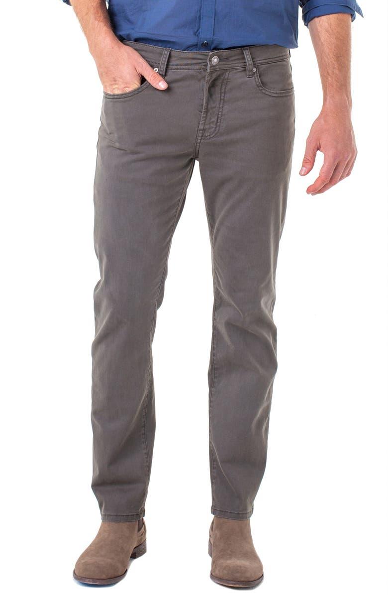LIVERPOOL Regent Straight Leg Twill Pants, Main, color, OCEAN STORM