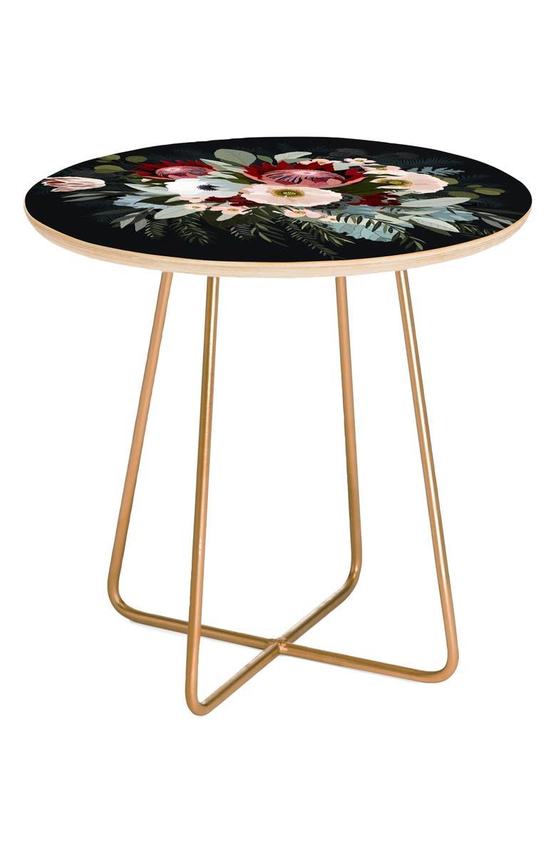 DENY DESIGNS Adeline Side Table, Main, color, BLACK