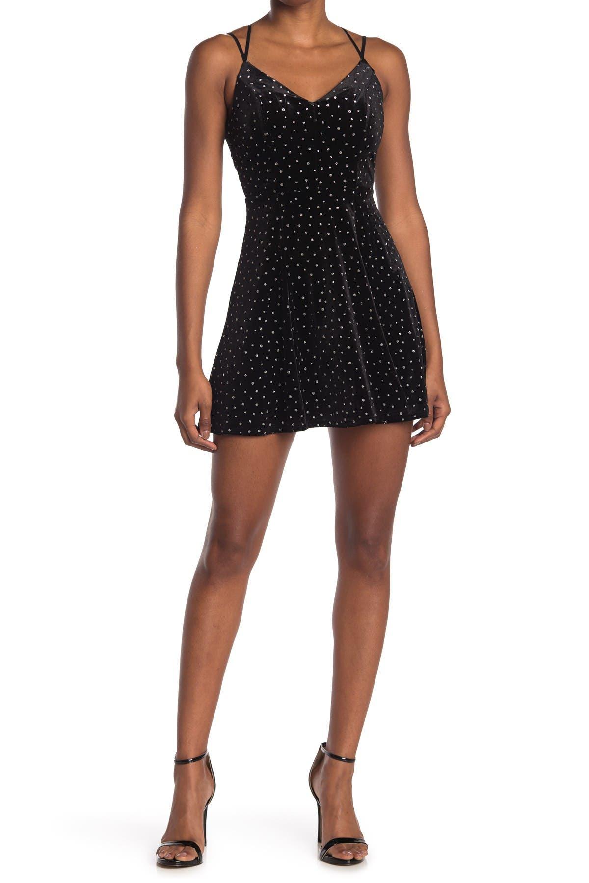Image of Love, Nickie Lew Glitter Dot Velvet Skater Dress