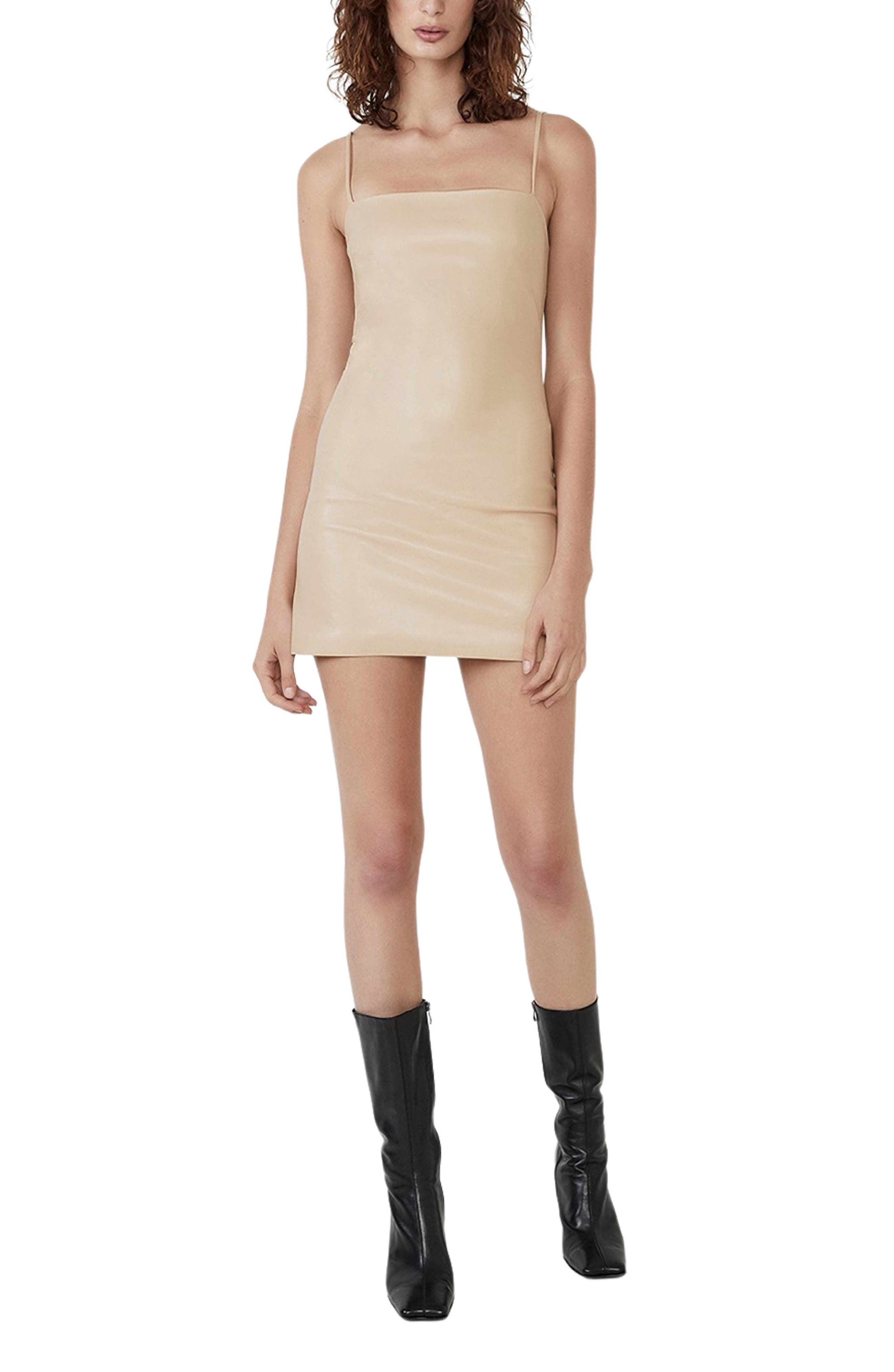 Anabelle Faux Leather Minidress