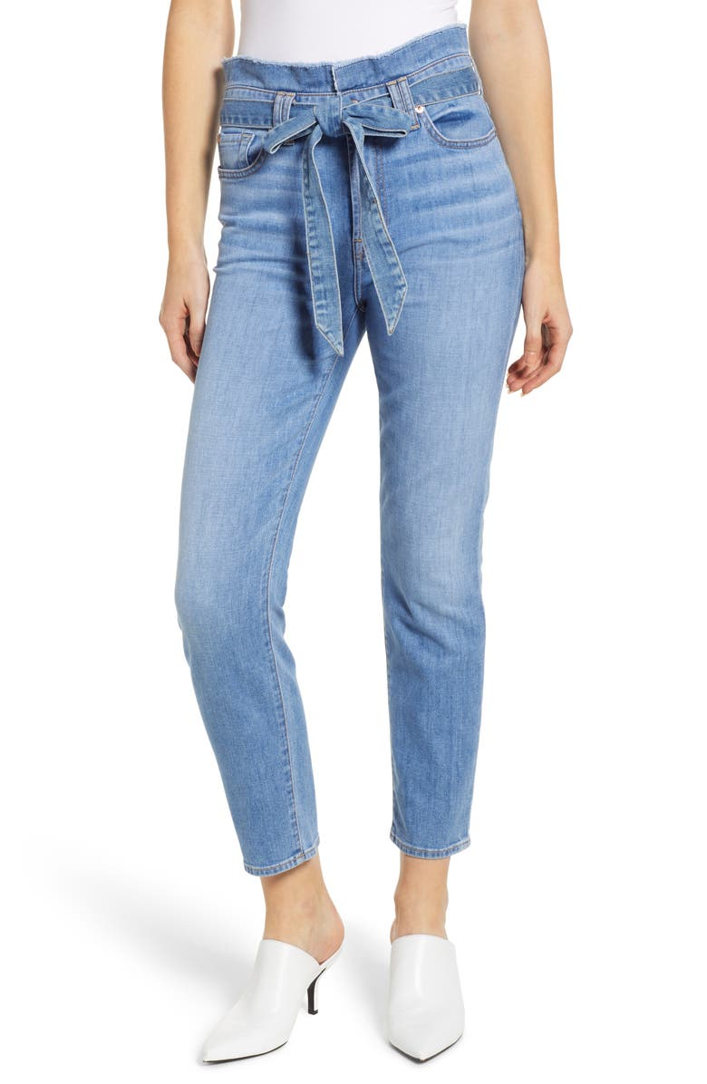 7 FOR ALL MANKIND<SUP>®</SUP> Paperbag Waist Jeans, Main, color, 401