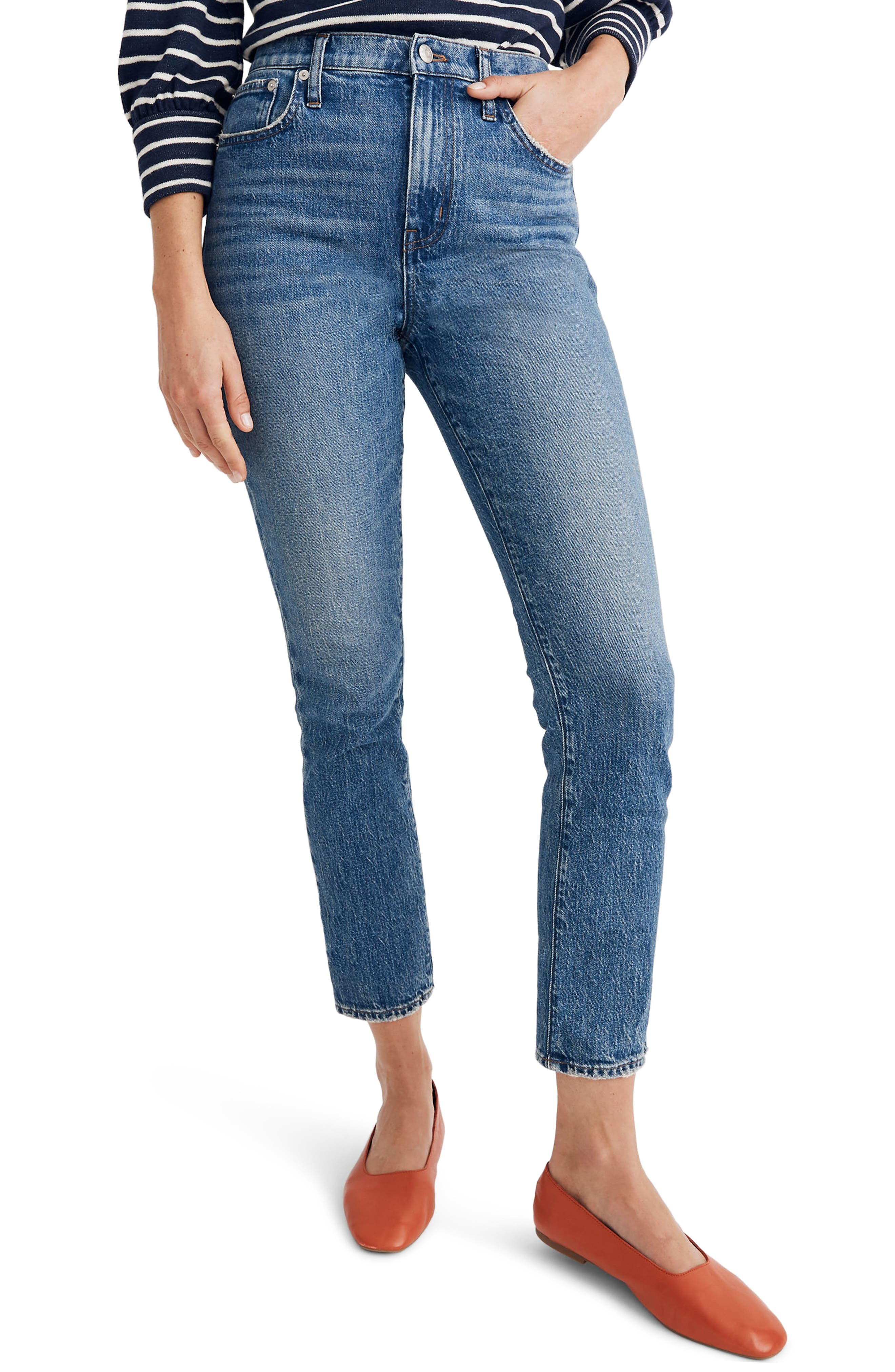 Madewell The High Rise Slim Boy Jeans (Lavern Wash)