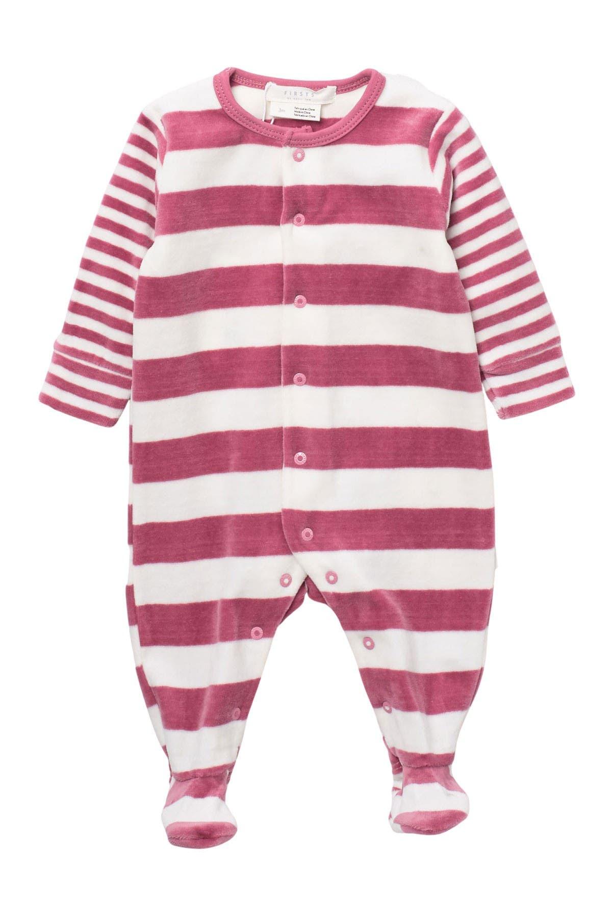 Image of Petit Lem Striped Baby Blanket Sleeper