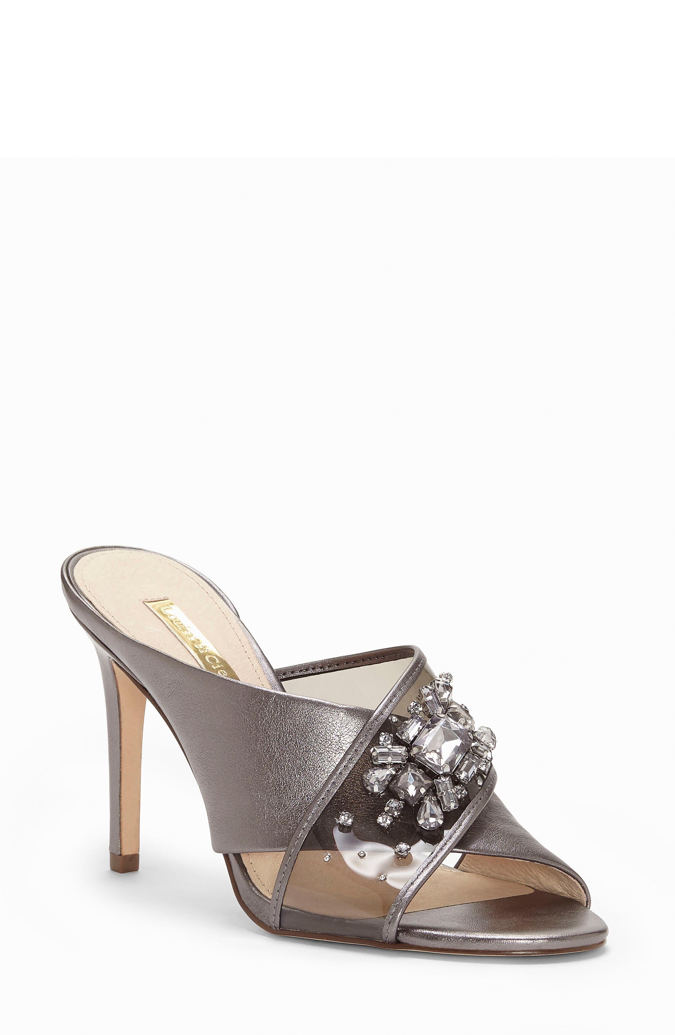 Louise Et Cie Hannety Embellished Sandal- Metallic