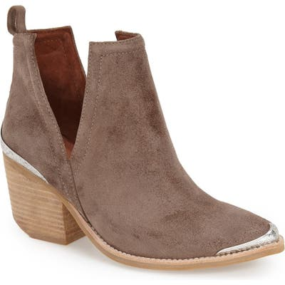 Jeffrey Campbell Cromwell Cutout Western Boot- Beige