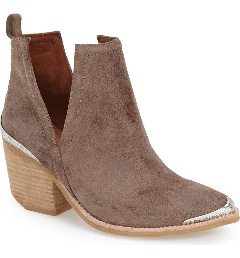 JEFFREY CAMPBELL Cromwell Cutout Western Boot, Main, color, TAUPE DISTRESSED SUEDE