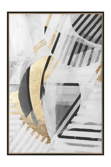 Image of Boston Warehouse Black, White, & Gold-Tone II Wall Art