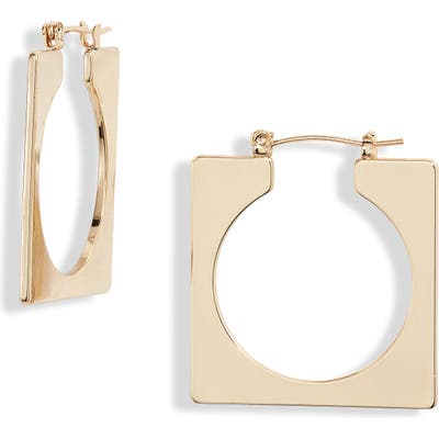 Ettika Geo Square Open Hoop Earrings