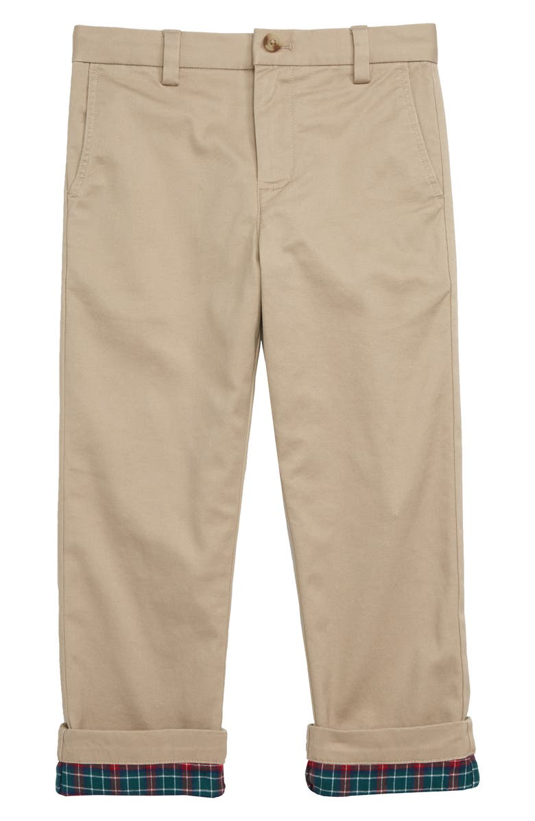 VINEYARD VINES Flannel Lined Breaker Pants, Main, color, KHAKI