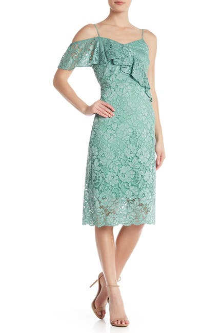 Image of Sam Edelman Lace V-Neck Midi Dress