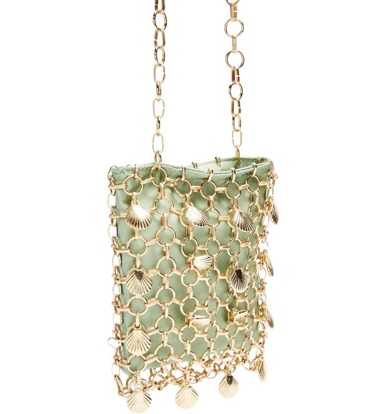 TOPSHOP Shell Cage Mini Bag, Main, color, 300