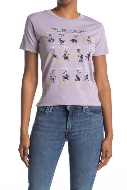 Image of Desert Dreamer Written In The Stars Graphic Crew Neck T-Shirt