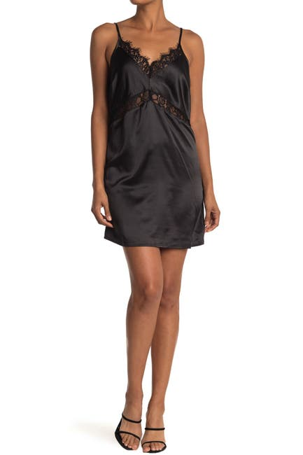 Image of dee elly Lace Trim Slip Dress