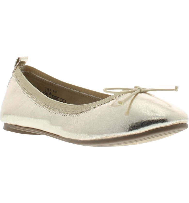 REACTION KENNETH COLE Copy Tap Ballet Flat, Main, color, GOLD