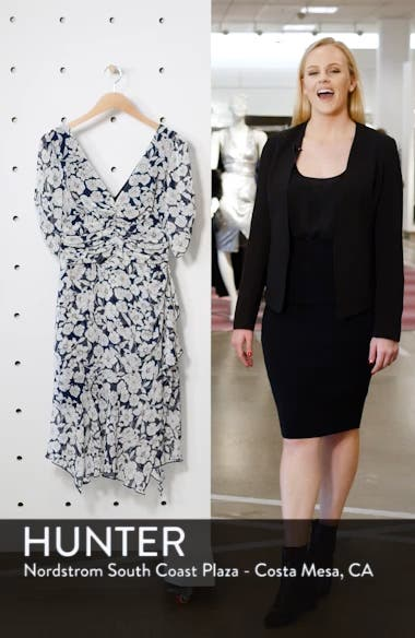 Floral Print Ruched Dress, sales video thumbnail