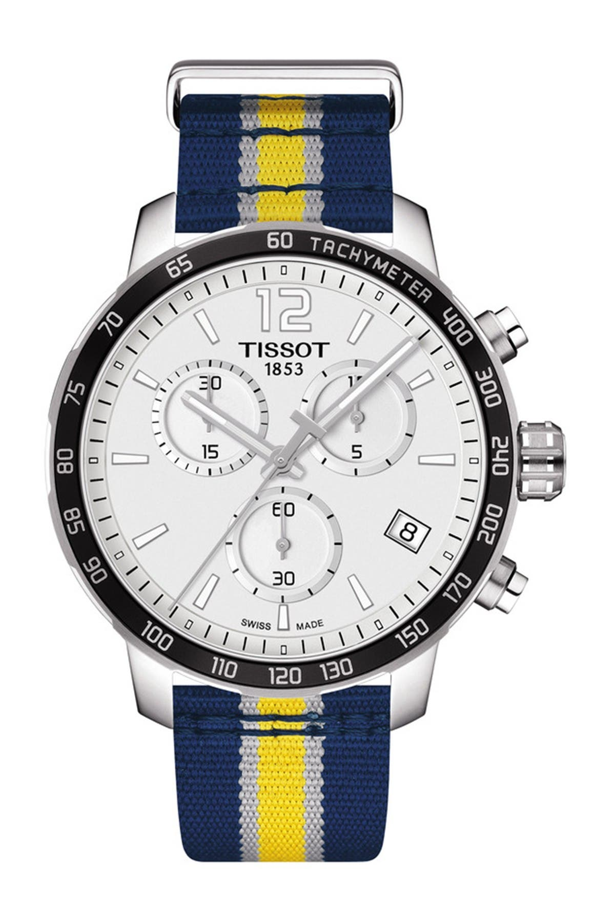 Image of Tissot Men's Quickster Chronograph NBA Indiana Pacers Watch, 42mm