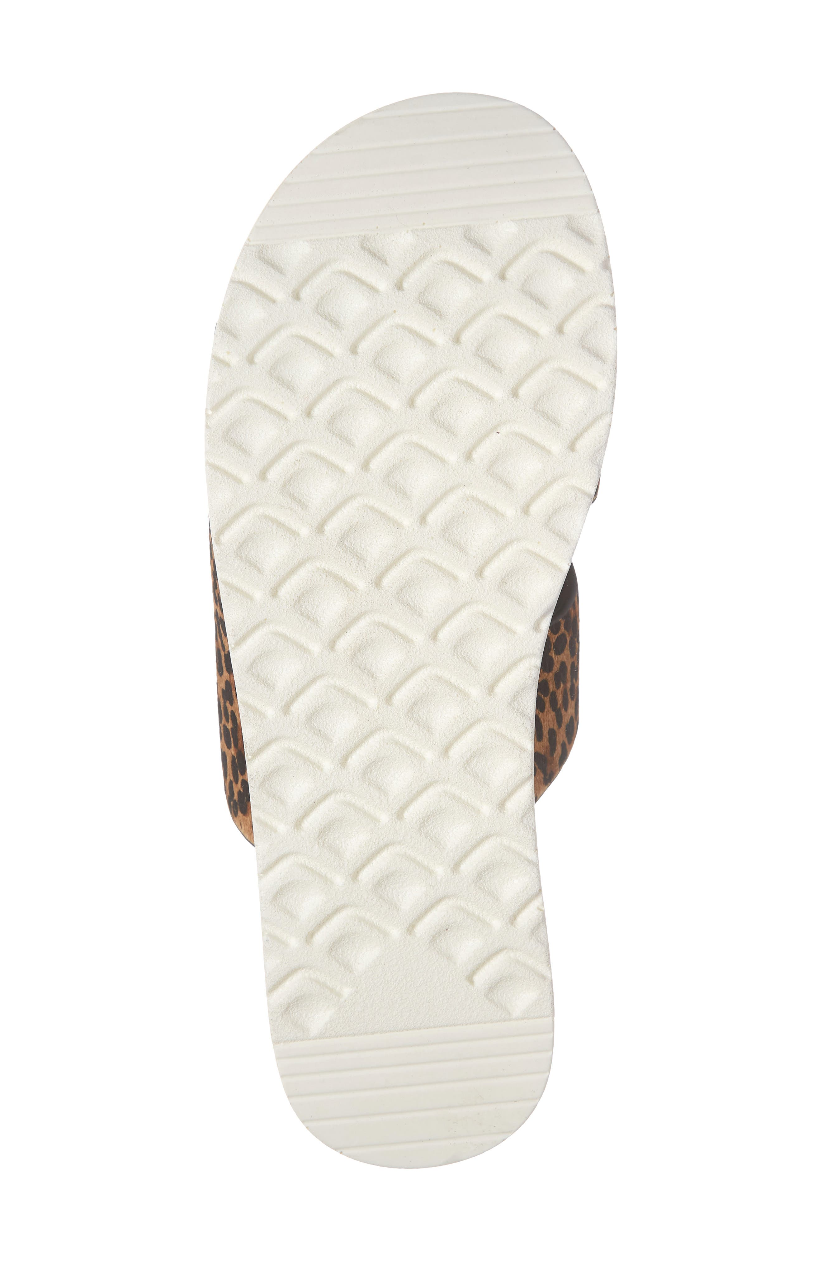 ,                             Danesha Genuine Calf Hair Slide Sandal,                             Alternate thumbnail 7, color,                             LEOPARD PRINT CALF HAIR