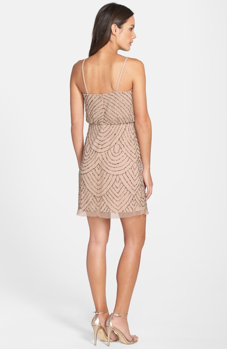 ADRIANNA PAPELL Sequin Mesh Blouson Dress, Main, color, 257