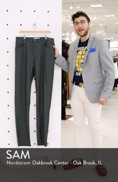 Cooper Five Pocket Check Wool Trousers, sales video thumbnail