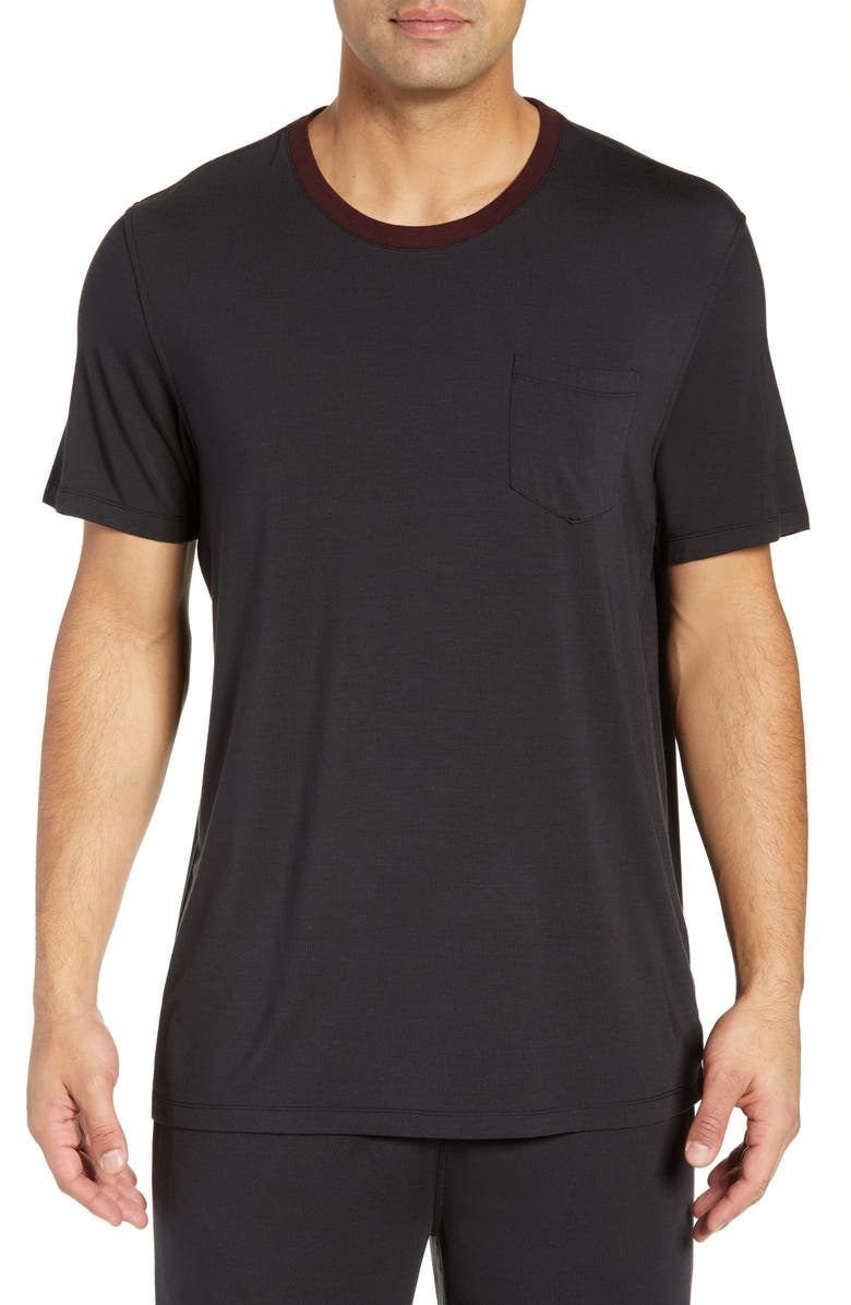 DANIEL BUCHLER Modal Blend Crewneck T-Shirt, Main, color, BLACK