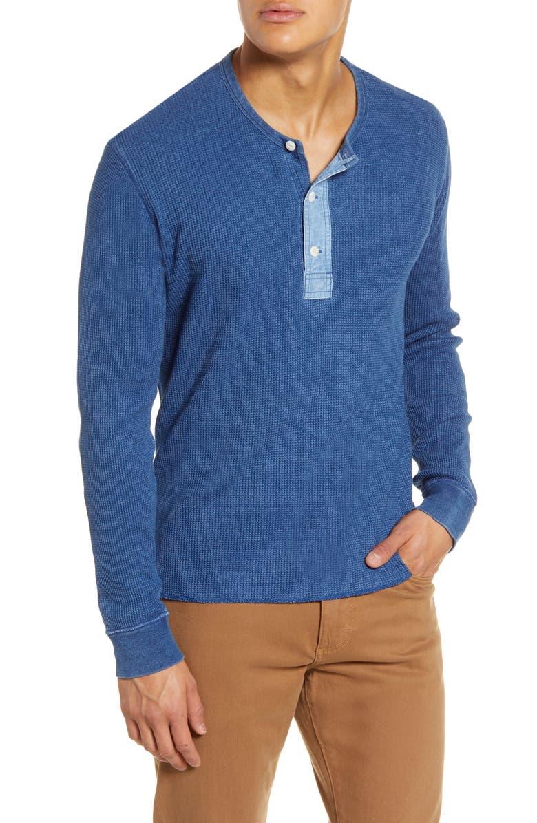 MADEWELL Thermal Henley T-Shirt, Main, color, INDIGO