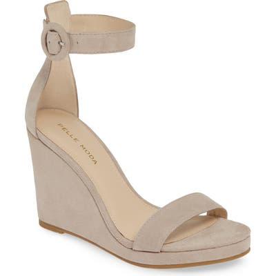 Pelle Moda Nisha Wedge Sandal, Beige