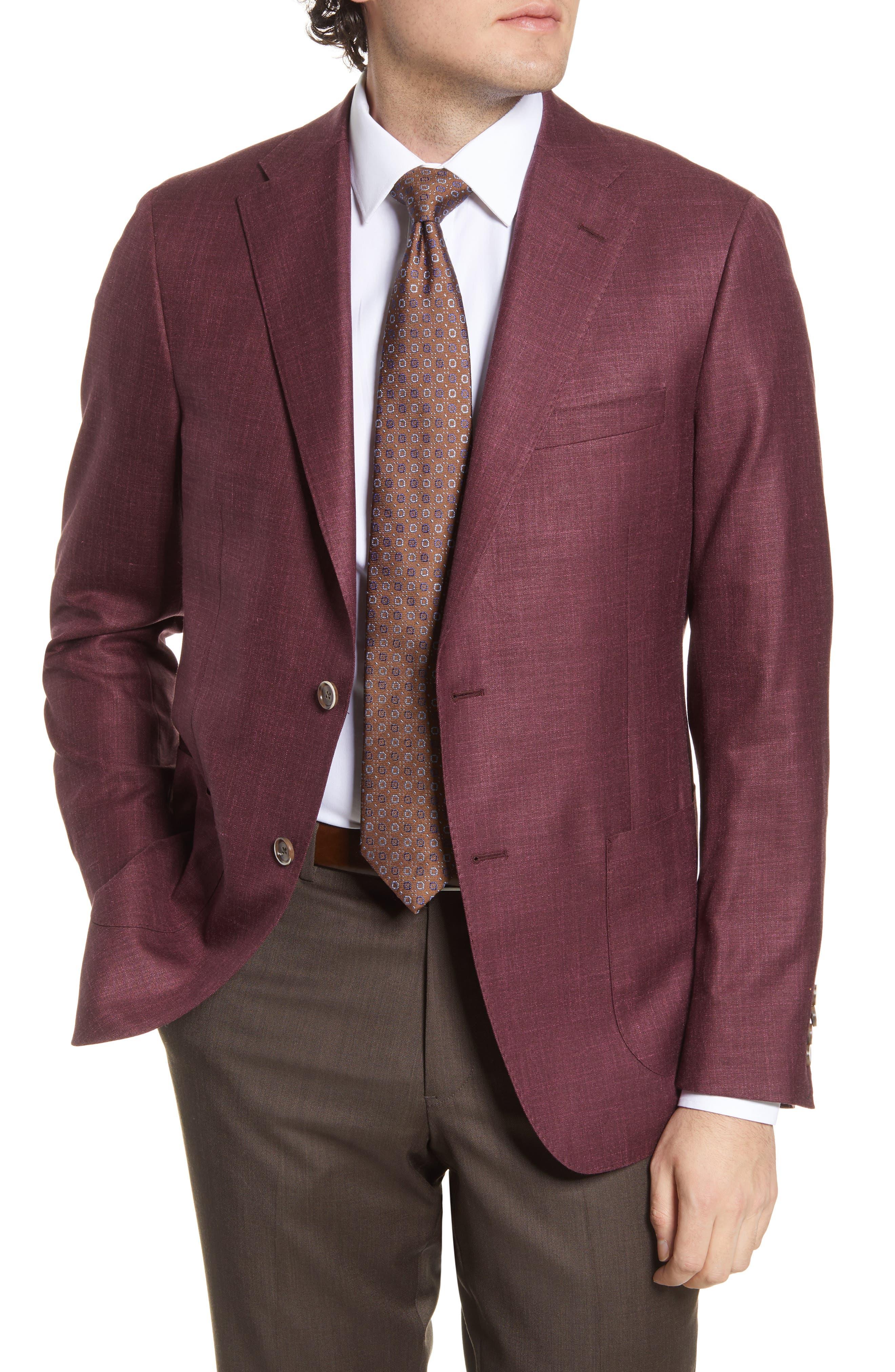 Classic Fit Solid Wool Blend Sport Coat