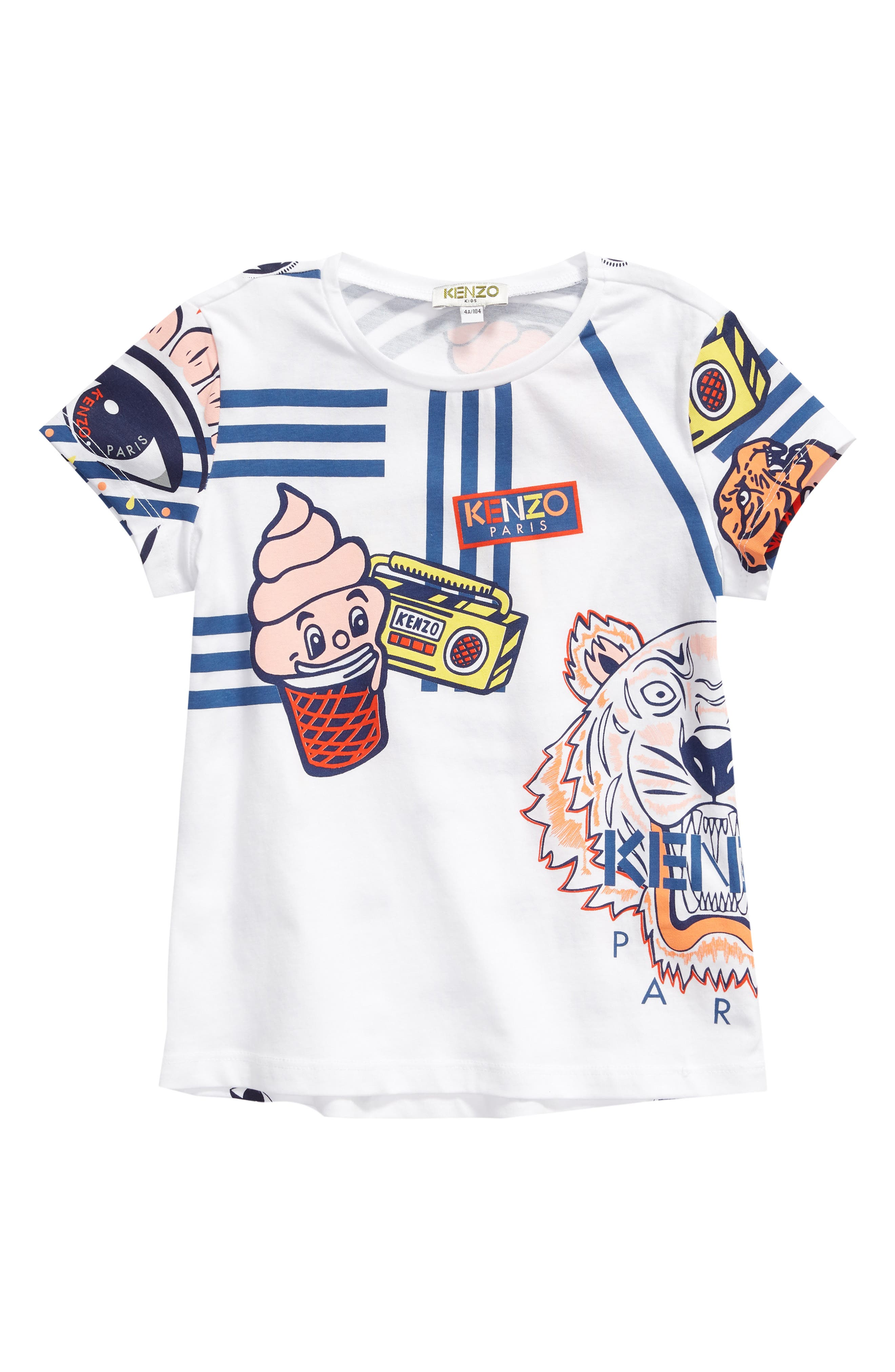 Multi Icons Tee, Main, color, WHITE