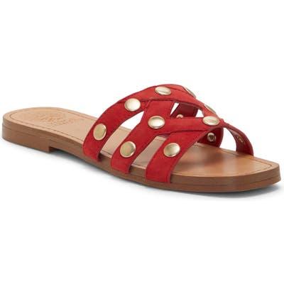 Vince Camuto Vazista Studded Slide Sandal, Red