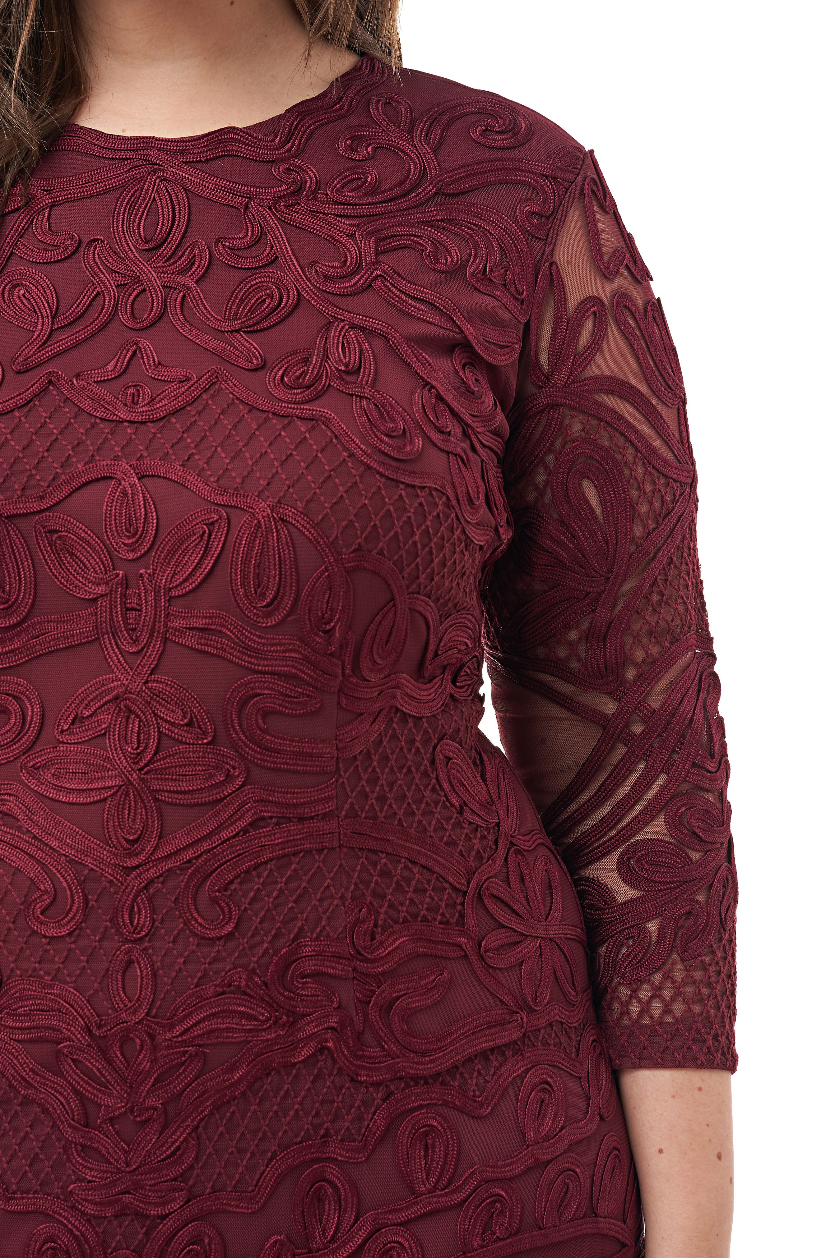 ,                             Soutache Sheath Dress,                             Alternate thumbnail 16, color,                             930