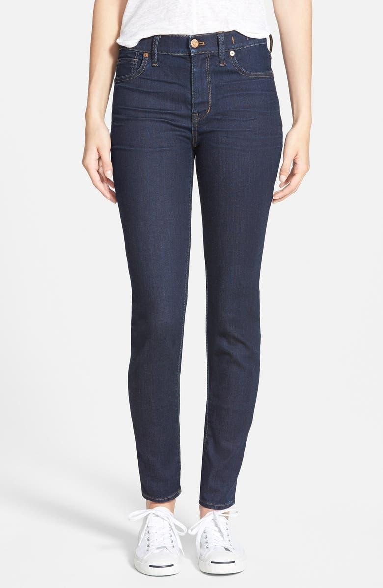 MADEWELL 'High Riser' Skinny Skinny Jeans, Main, color, 401