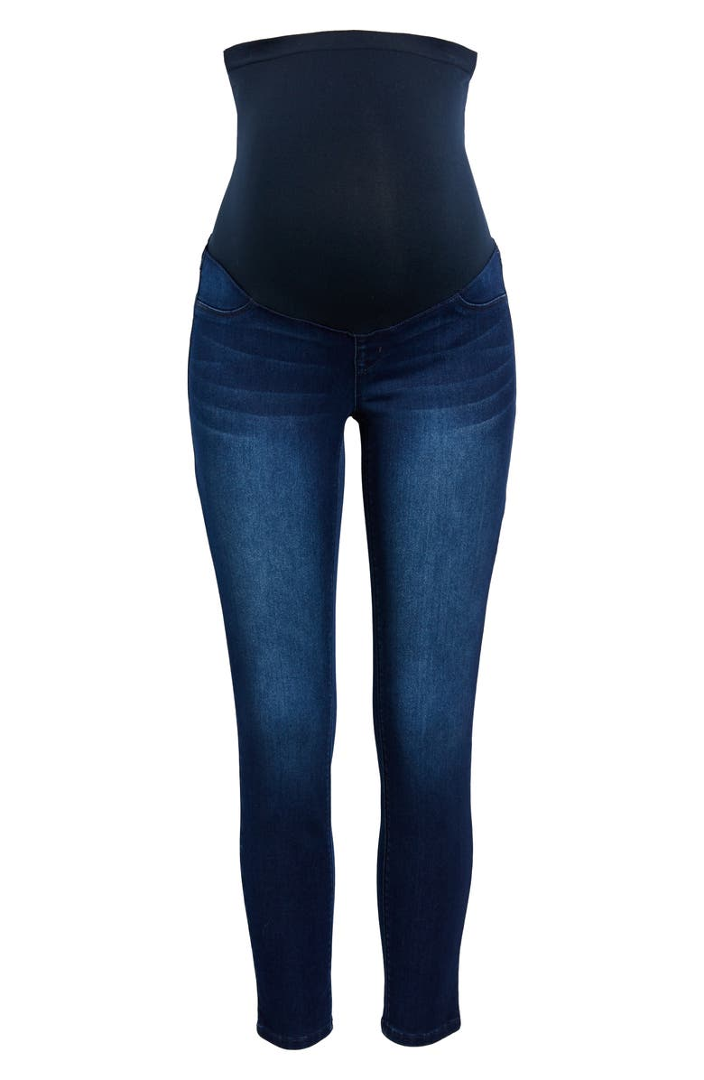 1822 DENIM Butter Maternity Ankle Skinny Jeans, Main, color, MARCO