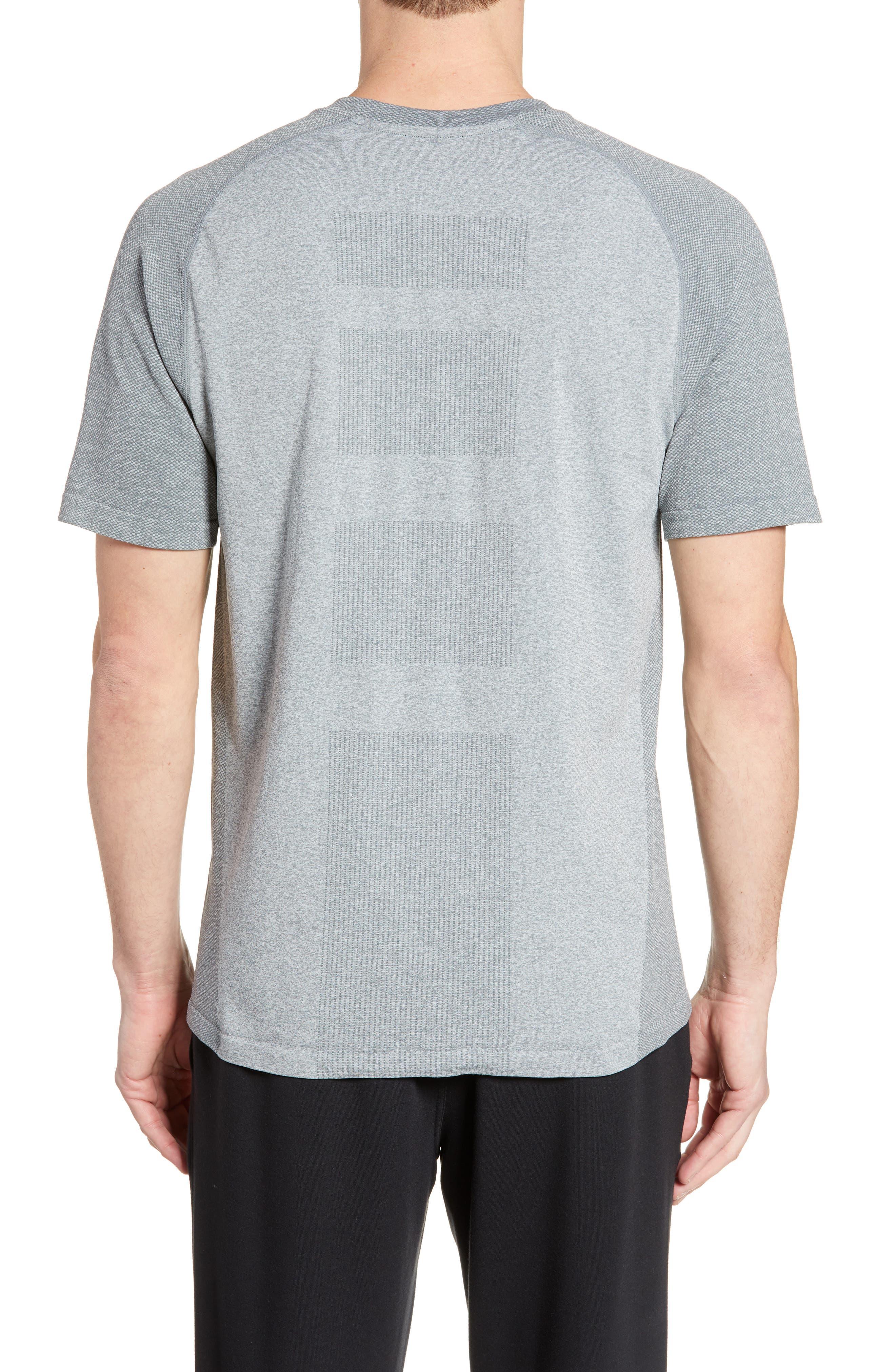,                             Seamless Raglan T-Shirt,                             Alternate thumbnail 2, color,                             GREY MONUMENT MELANGE