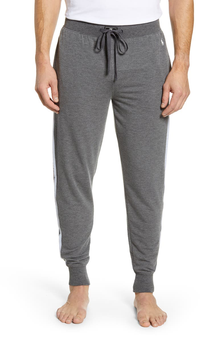 POLO RALPH LAUREN Mini Terry Jogger Pants, Main, color, CHARCOAL HEATHER