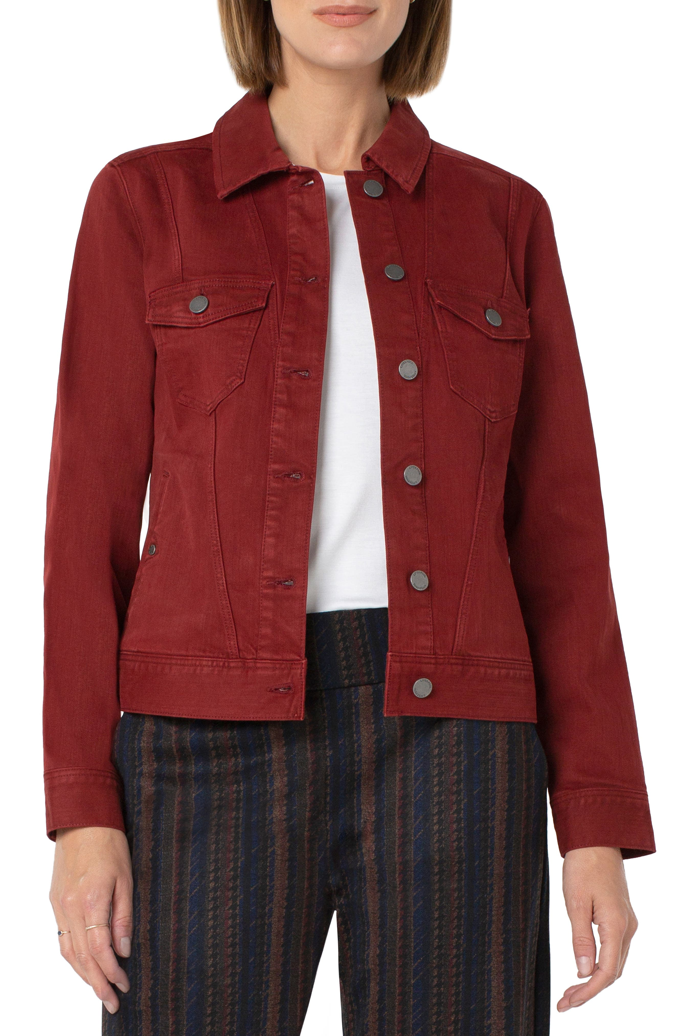 Seamed Stretch Twill Jacket
