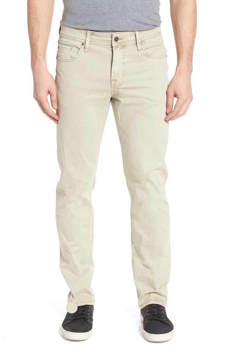 LIVERPOOL Regent Straight Leg Twill Pants, Main, color, SANDSTROM