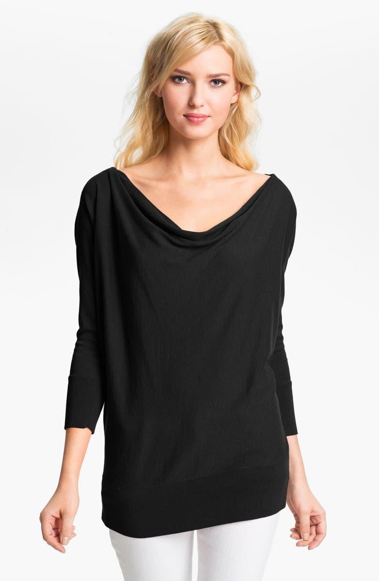 MICHAEL MICHAEL KORS Zip Shoulder Sweater, Main, color, 001