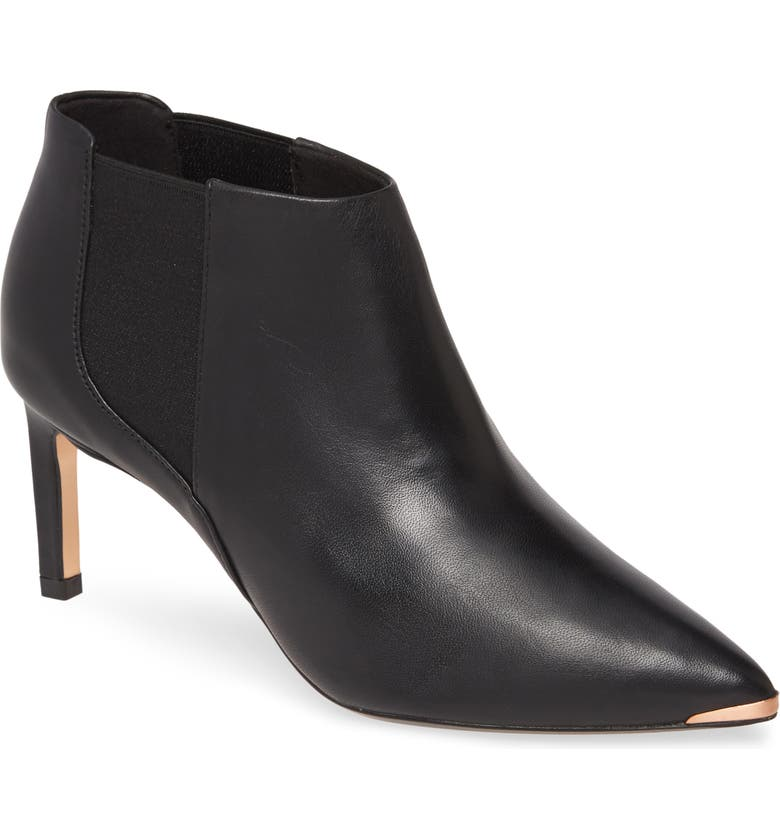 TED BAKER LONDON Beriinl Ankle Bootie, Main, color, BLACK LEATHER