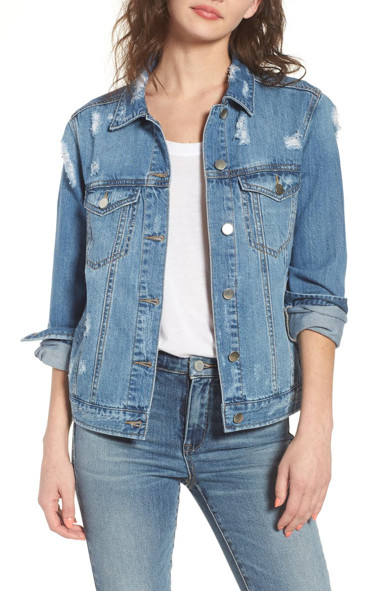 BP. Ripped Denim Jacket, Main, color, 402